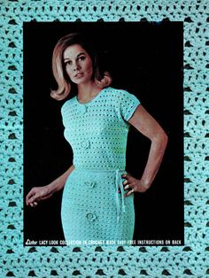 Vintage Crochet Pattern PDF   1960s