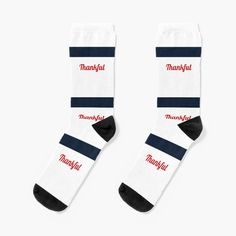 Match this great quality, minimal, navy blue stripe with red Thankful text, stylish, modern pattern pair of socks by #PiccoGrande, with your favourite jean, and white or red-blue-white color shirt or sporty apparel.  #casualstyle #unisex #convenient #young #sporty #minimalpattern #modernpattern #aesthetic #shoponline #uniquesocksonline #stylishteens #uniquedesign #beyourself #giftidea #giftforher #giftsforhim #sportmen #forcollegestudent #accessories #minimal #thankful #gratitude #thanksgiving Red White Blue, Navy Blue, Sock Animals, Cute Socks, Red Design, Designer Socks, Mix N Match, Matching Outfits, Blue Stripes
