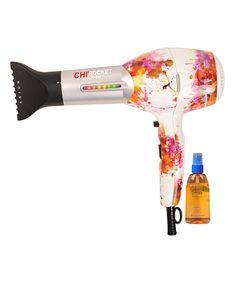 CHI...Look at this #zulilyfind! Abstract Rocket Low EMF Hair Dryer & Hair Oil #zulilyfinds