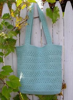 Tote bag - free pattern... Cute bag to keep you crocheting or knitting stuff in..