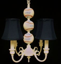 Baseball Nursery Decor: Baseball Chandelier