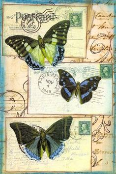 Butterfly Postcard by PaperScraps, via Flickr