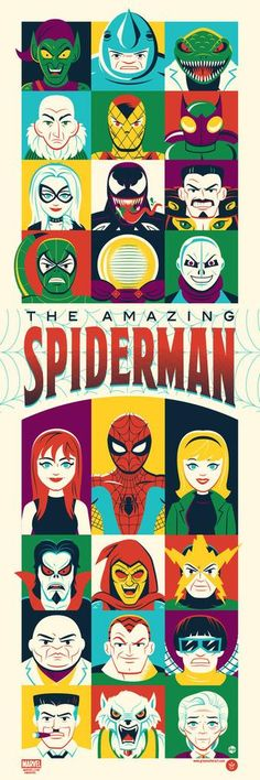 The Amazing Spider-Man Character Art Print