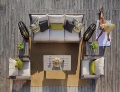 Here is a creative way to design an outdoor space! Pair Summer Classics new collection, Sierra with our Club Aluminum coffee and side tables! www.summerclassics.com