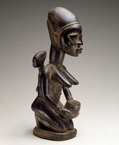 Yoruba peoples (King and first wife veranda post)