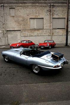 1966 Jaguar E-Type | XK-E | Series 1 | Convertible OTS | Open Two Seater | English Sports Car manufactured between 1961 - 1975 Jaguar E-Type | XK-E | Series 1 | Grand Tourer Coupe FHC | Fixed Head...