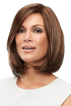 Petite Cameron by Jon Renau Wigs - Lace Front, Monofilament, Hand Tied Wig - - Wigs For Cancer Patients, Latest Hairstyles, Bob Hairstyles, Straight Hairstyles, Haircuts, Short Hair Cuts, Short Hair Styles, Jon Renau, Hair Colors