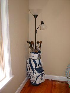 A Golf Bag Floor Lamp Quite Unique Golf Home Decor