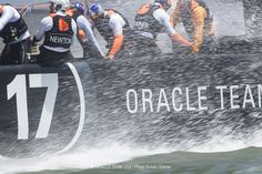 In the splash zone with ORACLE TEAM USA - 34th America's Cup Defender.