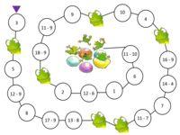 het sommenspel: verschillende bordspelen om te leren tellen tot 20 Color Activities, Math Activities, Math Numbers, Play To Learn, Speech Therapy, Teaching, School, Multiplication, Games