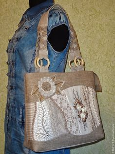 Сумочка Льняное крейзи . - летняя сумка,льняная,  very pretty, love the wave of the design, which is lace