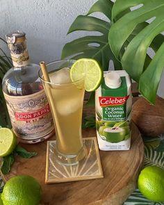 Cóctel Caribeño, hecho con nuestro ron Don Papa y agua de coco orgánica Celebes. Don Papa, Ron, Coconut, Organic, Agua De Coco, So Done, Recipes