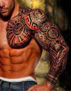 Großartige Pictures found for query male tattoos - maori tattoos Tribal Tattoos For Men, Tribal Sleeve Tattoos, Best Sleeve Tattoos, Trendy Tattoos, Tattoos For Guys, Geometric Tattoos, Polynesian Tattoo Designs, Maori Tattoo Designs, Tattoo Sleeve Designs