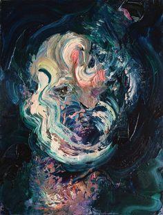 "ane lafarge hamill Portrait of Humans  Oil on panel 16"" x 12"" 2015"