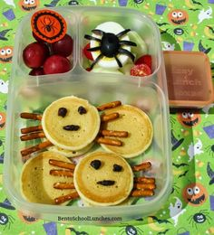 Spider Pancakes Breakfast For Lunch Halloween Bento
