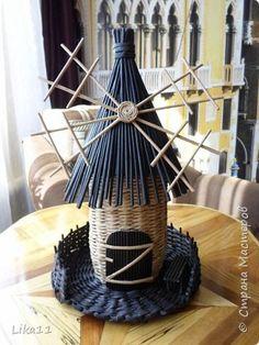 Поделка изделие День рождения Плетение Мои мельницы Трубочки бумажные фото 1