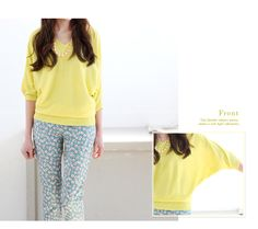 cute and comfortable long knit for spring and summer from jAPAN