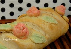 Rye and Roses – Painted Bread with Decorative Roses TUTORIAL