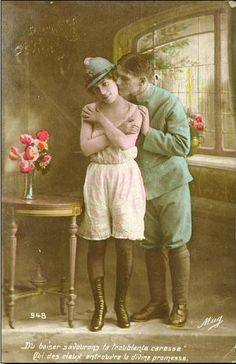 VINTAGE FRENCH woman POSTCARDS | woman wearing Adrian helmet in WWI French postcard | Flickr - Photo ...
