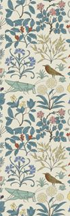 Apothecary's Garden Wallpaper   CFA Voysey c. 1926    This pattern drawn in the later years of Voysey's career still evokes the freshness and perennial childlike enthusiasm of his early work.    @George William