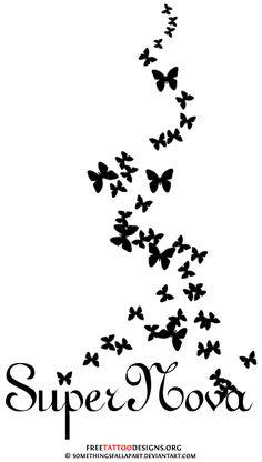 tattoo design - Loralai's name with butterflies...foot tattoo idea
