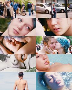 Blue is the Warmest Colour collage. Amor Yuri, La Haine Film, Adele Exarchopoulos, Blue Is The Warmest Colour, Light Film, Movie Shots, Color Collage, Film Aesthetic, Star Girl