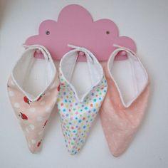 Handmade Baby Dribble Bibs Pinks Strawberries & by SewSoPretty14