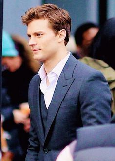 "Fifty Shades Of Grey Movie Jamie Dornan...notice the ""accurate"" hair color :-)"