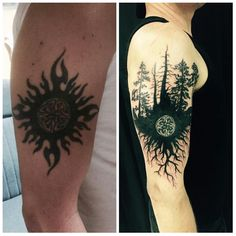 Cover up tribal sun done by yusef musle @ a new dimension in Lake worth fl