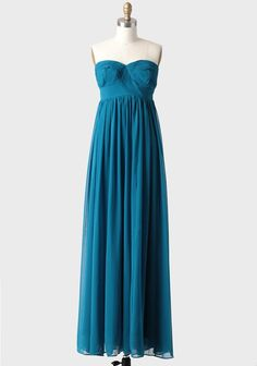 Hydrangea Maxi Dress In Teal