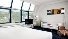 Hotel Miró: Bright and airy rooms all have a minimalist look; those facing north have Guggenheim views.