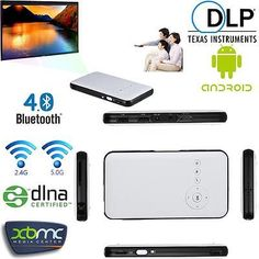 Mini HD 1080P LED DLP Projector TV BOX for iPhone Android Phone Laptop