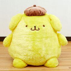 POMPOMPURIN Pom Pom Purin Fluffy Plush Doll 2L SANRIO JAPAN