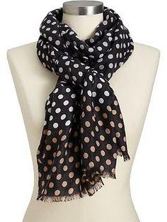 Women's Ombre Polka-Dot Scarves | Old Navy