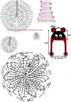 Gorro con bufanda para niños con orejas de ratón / moldes y esquemas crochet | Todo crochet