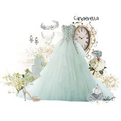"""""""Disney Cinderella Wedding"""" by rubytyra on Polyvore #novia #novio #boda #noviosdeboda.com #tendencia #Cantabria #vestido #mint"""