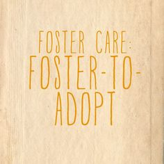 While some families prefer the more certain end result of the adopt-only option of foster care, others prefer the foster-to-adopt option. I've gotten to work with some really great families adopting both ways. And families who only ever set out to foster and found themselves absolutely in love with the kiddos living with them. I've