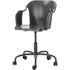 ikea roberget swivel chair gray you sit comfortably since the chair is adjustable in heightyou sit comfortably thanks to the shaped back and scooped