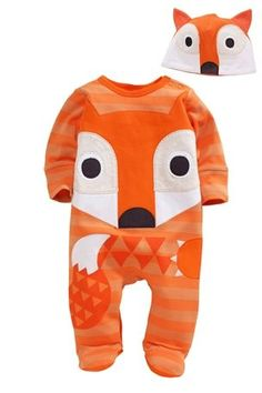 Fox Sleepsuit And Hat Set (0mths-2yrs)