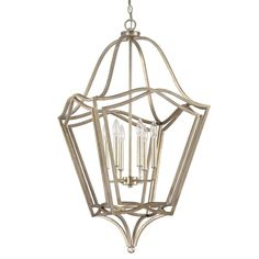 Provide a unique sense of flair to your home with this Capital Lighting 6-light chandelier. The painted Winter Gold finish along with the candelabra base bulbs will offer up a warm glow as a foyer or pendant light.