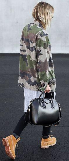 Camo Jacket Layer Fall Inspo by By Kiki
