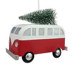 St. Nicholas Square® Retro Bus Christmas Ornament, Multicolor