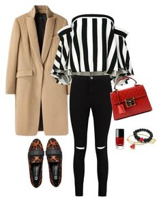 """""""Bold Stripes/Leopard loafers inspo set"""" by ootd-catalogue ❤ liked on Polyvore featuring rag & bone, Milly, Boohoo, River Island, Gucci and Chanel"""