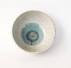 Schüsseln & Schalen - Pusteblumenschälchen - ein Designerstück von keramik-Annette-Oberwelland bei DaWanda Ceramic Bowls, Stoneware, Color Glaze, Dessert Bowls, Robins, Etsy, Plates, Dip, Tableware