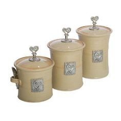 4 Piece Coeur Canister Set