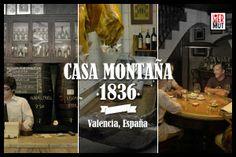 Casa Montaña es una de las tabernas más emblemáticas de la ciudad de Valencia. Más que una taberna, es una superviviente. Ubicada en el marinero barrio del Cabanyal, ha saciado la sed de pescadores y surtido de víveres a marineros desde 1836. Su propietario ahora es Emiliano García, quien ya desde su juventud compartía con amigos cacaos y altramuces entre esas mismas paredes.  http://www.lovermut.com/articulos-lovermut/donde-ir/casa-montana