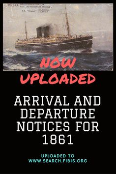 Times of India arrival and departure notices for 1861