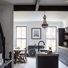 Interior Snoop: An Upgraded New York Brownstone With Respect To Its Original Design New York Brownstone, Brooklyn Brownstone, Brooklyn Apartment, Clinton Hill, Dado Rail, Interior Desing, Scandinavian Home, Rustic Interiors, House Tours