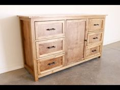 How To Build a Rustic Dresser - YouTube