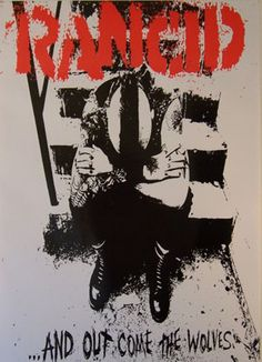 Rancid 24 x 36 poster Out Come the Wolves #punk #music #poster www.drstrange.com
